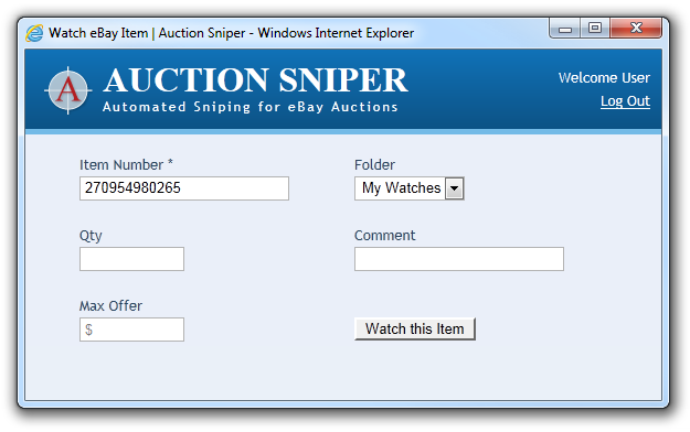 Help With Watch It Now Auction Sniper